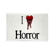 Bloody I heart horror gore Rectangle Magnet