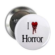 "Bloody I heart horror gore 2.25"" Button"