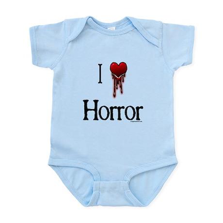 Bloody I heart horror gore Infant Bodysuit