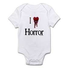 Bloody I heart horror gore Infant Bodysuit
