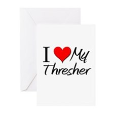I Heart My Thresher Greeting Cards (Pk of 10)