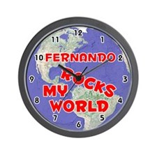 Fernando Rocks My World (Red) Wall Clock