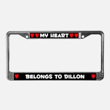 My Heart: Dillon (#001) License Plate Frame