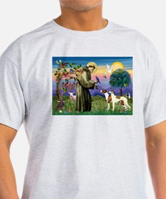 St Francis & Whippets Ash Grey T-Shirt