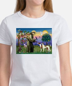 St Francis & Whippets Women's T-Shirt