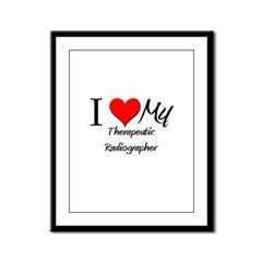 I Heart My Therapeutic Radiographer Framed Panel P
