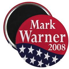 Mark Warner for President in 2008 (Magnet)