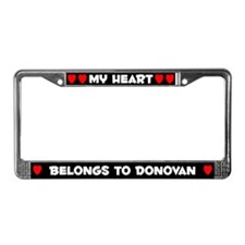 My Heart: Donovan (#001) License Plate Frame