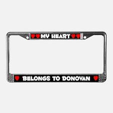 My Heart: Donovan (#001) License Plate Frame