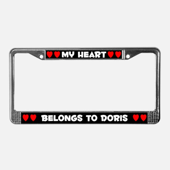 My Heart: Doris (#001) License Plate Frame