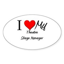 I Heart My Theatre Stage Manager Oval Decal