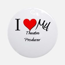 I Heart My Theatre Producer Ornament (Round)