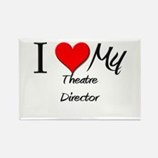 I Heart My Theatre Director Rectangle Magnet