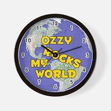 Ozzy Rocks My World (Gold) Wall Clock
