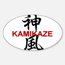Kamikaze Oval Decal