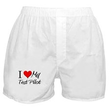 I Heart My Test Pilot Boxer Shorts