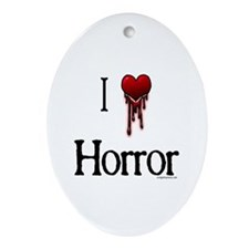 Cute Horror Oval Ornament