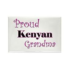 Proud Kenyan Grandma Rectangle Magnet