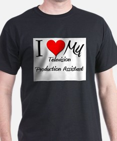 I Heart My Television Production Assistant T-Shirt