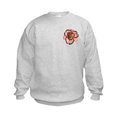 Red Ruffled Daylily Sweatshirt