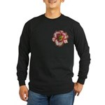 Red Ruffled Daylily Long Sleeve Dark T-Shirt
