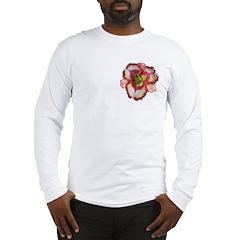 Red Ruffled Daylily Long Sleeve T-Shirt