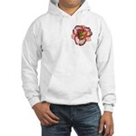 Red Ruffled Daylily Hooded Sweatshirt