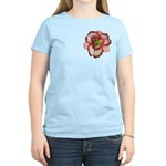 Red Ruffled Daylily Women's Light T-Shirt