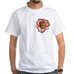 Red Ruffled Daylily White T-Shirt