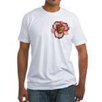 Red Ruffled Daylily Fitted T-Shirt