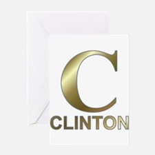 Gold C for Hillary Clinton Greeting Card