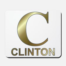 Gold C for Hillary Clinton Mousepad