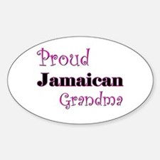 Proud Jamaican Grandma Oval Decal