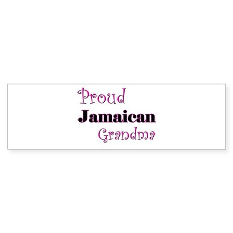 Proud Jamaican Grandma Bumper Sticker
