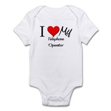 I Heart My Telephone Operator Infant Bodysuit