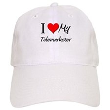 I Heart My Telemarketer Baseball Cap