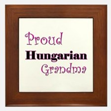 Proud Hungarian Grandma Framed Tile
