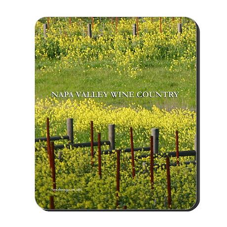 wine country mustard bloom vineyard mousepad