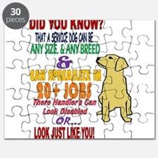 did you know service dog education Puzzle