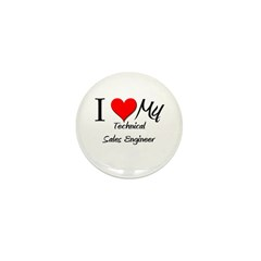 I Heart My Technical Sales Engineer Mini Button (1