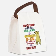 did you know service dog education Canvas Lunch Ba
