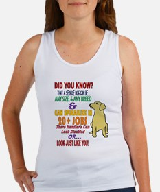 did you know service dog education Tank Top