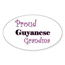Proud Guyanese Grandma Oval Decal