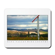 Napa Valley Sunlit Hills Windmill Mousepad