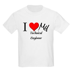 I Heart My Technical Engineer T-Shirt