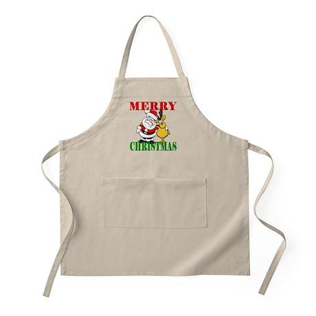 Merry Chirstmas BBQ Apron