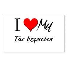 I Heart My Tax Inspector Rectangle Decal