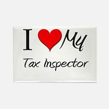 I Heart My Tax Inspector Rectangle Magnet