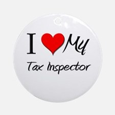 I Heart My Tax Inspector Ornament (Round)