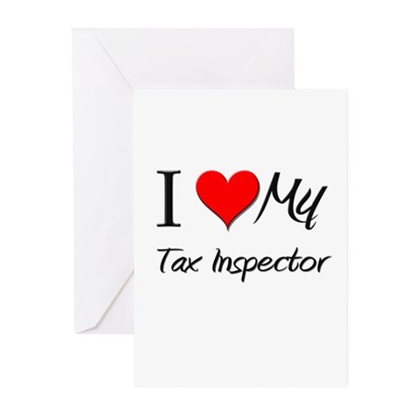 I Heart My Tax Inspector Greeting Cards (Pk of 10)